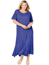 MAXI DRESS Woman Within VIOLET Plus Sizes 20/22 24/26 28/30 32/34 40/42 44/46