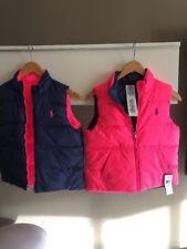 Ralph Lauren Girls Size XL (16) Reversible Down Vest Retail $125