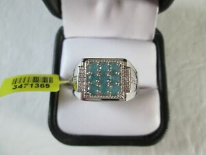 Mens Grandidierite Platinum over Sterling Silver Ring (Size 12) TGW 1.25 cts.