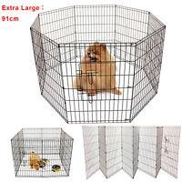 Extra Large 8 Panel Pet Play Pen Dog Puppy Animal Rabbit Run Cage Fence 91cm