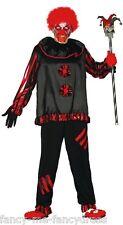 nero da uomo Rosso ASSASSINO PAGLIACCIO MALEFICO Costume Halloween taglia large