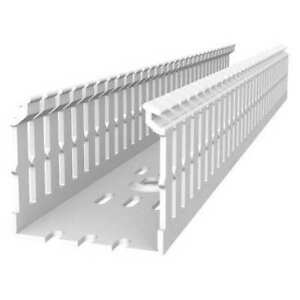Tyrap Tyd15x2npw6 Wiring Duct,Narrow Slot Wall,Wht,6 Ft. L