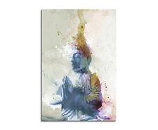 90x60cm PAUL SINUS Splash Art Gemälde Kunstbild Buddha