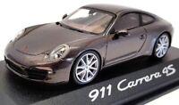 Minichamps 1/43 Scale Model Car 0201100C - Porsche Carrera 4S - Met Grey