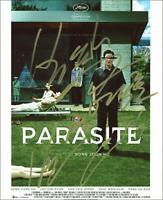 """Parasite"" Cast AUTOGRAPHS Signed 8x10 Photo - Bong Joon-ho, Song Kang-ho +2"