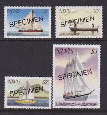 Nevis 1980 Mint MNH Overprinted Specimen Sailing Boats Windjammer Lighter Boat