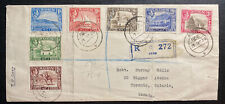 1936 Aden First Day Registered cover FDC To Toronto Canada SG#16-22