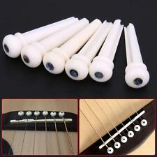 1 Set Bone Bridge Pins Nail Nut Saddle Part For Acoustic Guitar Universal ZX