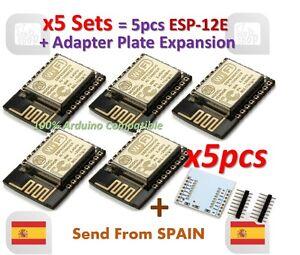 5pcs ESP12E ESP8266 Enhanced Version Serial Wifi Module ESP-12E + Plate