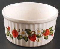 Sheffield Strawberries 'n Cream Stoneware Collection Bowl Ramekin Custard Dish