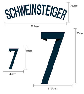 GERMANY Home WORLD CUP 2014 PU SOCCER FOOTBALL NAME NUMBER PRINT