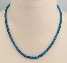 Apatitkette Neon-Apatit Halskette für Damen 48 cm