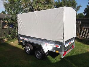 Trailer 9FTx4FT TWIN AXLE Box Camping 2,70 x 1,32 m +150cm COVER