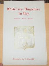 MENU INTRONISATION ORDRE DES ANYSETIERS DU ROY LIMOUSIN MARCHE PERIGORD 1961