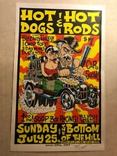 HOT DOGS & HOT RODS CAR SHOW S.F. CALIF. 1999  FORBES SIGNED LOW 32/300