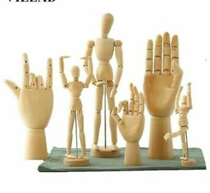 Rotatable Joint Wooden Man Hand Figurines Mannequin Artist Miniatures Home Decor
