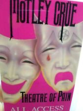 Motley Crue Theatre Of Pain Backstage Pass Original 1985 Hard Rock Metal Music