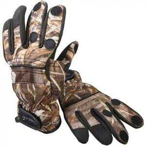 PROLOGIC MAX-5 CAMO NEOPRENE GLOVES REALTREE CAMOUFLAGE shooting fishing suit
