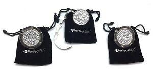 3pk Kim Kardashian Perfect Skin Purse Bag Handbag Hanger Silver Studded Holder