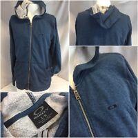 Oakley Hoodie Jacket L Blue Cotton Poly Full Zip EUC YGI K8-308