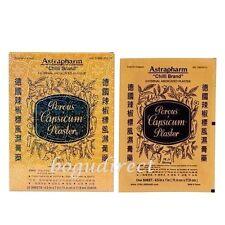 6 Sheets ASTRAPHARM Chilli Brand Porous Capsicum Plaster (4.5 x 7 inch each)