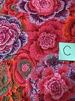 Kaffe Fassett Brassica Redxx by FreeSpirit 100% cotton Quilting Fabric BTY