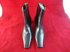 Obeline Kellie Women's US Size 5.5 Black Ankle Slip On Elastic Boots Flat Toe