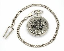 Bee Style Pocket Watch Gift Boxed With FREE ENGRAVING Bee Keeper Gift
