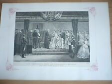 L'IMPERATRICE EUGENIE REMET DES DECORATIONS A EPERNAY  EN 1866