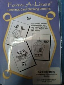 NEW Form-A-Lines Cardmaking Greetings Card Stitching Patterns - Birds Kit