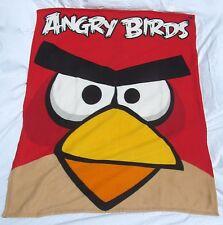 "Angry Birds Kids Bedding Red Bird Fleece Plush Throw Blanket 57"" X 46"""