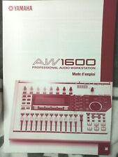 Yamaha AW 1600 Mode D'emploi FRENCH  français France Manual  NO RECORDER