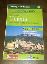 "Libri/Riviste/Giornali""TOURING CLUB ITALIANO UMBRIA CARTA PANORAMA SHARAN"""