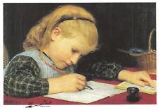 Postkarte: Albert Anker - Schreibendes Mädchen