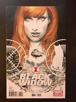 Black Widow #3 2014 Variant 1:50 Marvel Comic Book Incentive