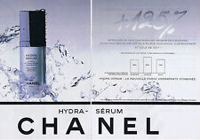 PUBLICITE ADVERTISING 084 1995 CHANEL Hydra-sérum (2 pages)