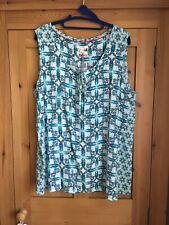 White Stuff NEW Nonia Sleeveless Blouse Top size 18 - blue green BNWT