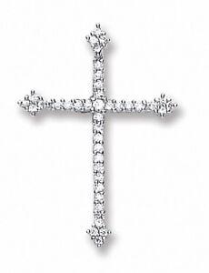 Silver Cross Pendant Necklace 925 Hallmark