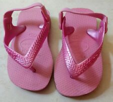 Havaianas Baby Top Open-Toe Synthetic Slingback Sandal. Pink. Sz 6