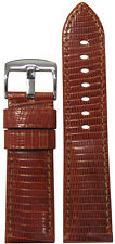 24mm Panatime Rou Genuine Lizard Watch Band with Match Stitching 24/22 120/75