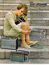 PUBLICITE ADVERTISING  1963   RIBET-DEJARDINS  transistors