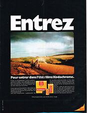 PUBLICITE ADVERTISING 054  1971  KODAK   films KODACHROME
