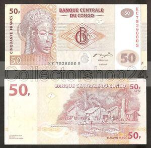 Congo Dem. Rep. 50 Francs 2007 Unc Pn 97a