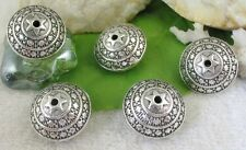10pcs Tibetan silver ornate round spacer beads FC9387