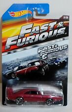 HOT WHEELS 2014 FAST & FURIOUS 6 - '69 DODGE CHARGER DAYTONA DIE CAST CAR 1/8