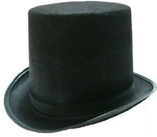 Black Top Hat Mat Hatter Party Costume Magician Wedding Fedora Book Week Formal