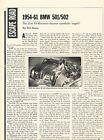 1954 1956 1961 BMW 501 502 Original Car Review Print Article J612