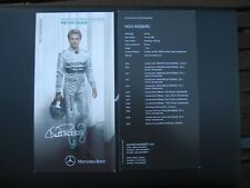 Autogrammkarte Nico Rosberg Mercedes AMG Petronas F1 2014 ca. 21x10cm