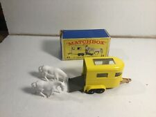 Matchbox No 43 Pony Trailer Horse Box Within Its Original Box