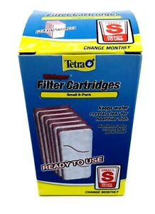 Tetra 19550 6-Pack Whisper Aquarium Filter Cartridges,Small